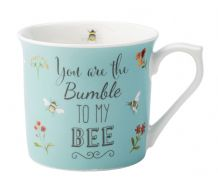 Bee Happy Blue Mug